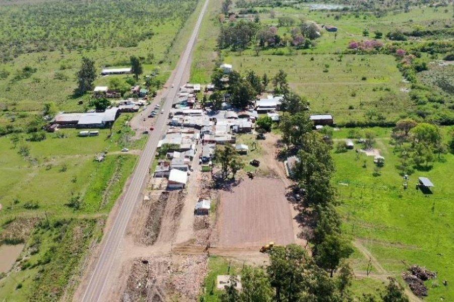 Predio del Gauchito: inician instalación de carpas para la relocalización de los puesteros