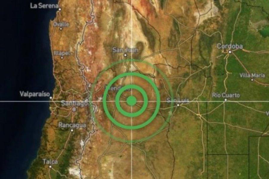 Mendoza: Se registró un terremoto de 5,2 grados en la escala Richter