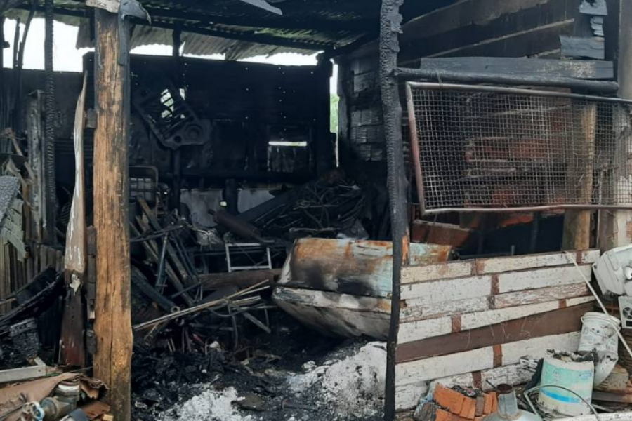 Corrientes: Una familia perdió todo por el incendio de su vivienda
