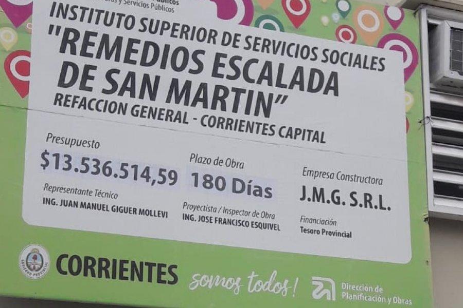 Corrientes: Establecimiento educativo en obra pero con aulas llenas