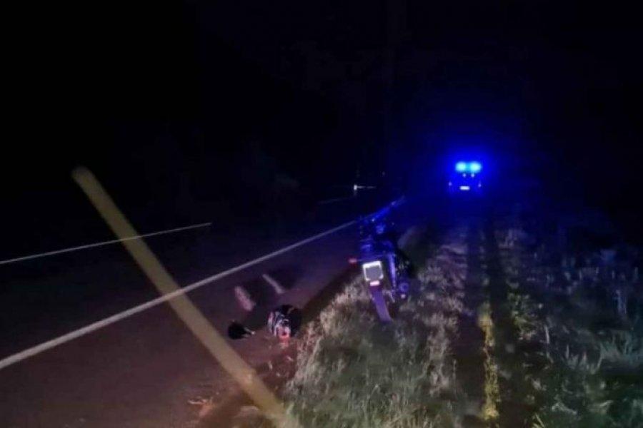 Hallaron el camión que atropelló y mató a un motociclista en Esquina