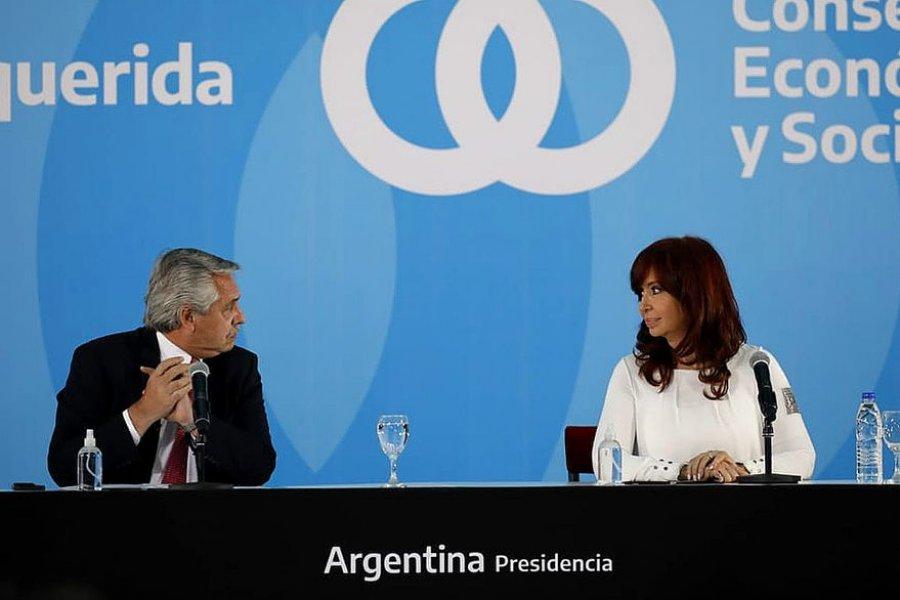 """En el acto junto a Cristina, Alberto Fernández pidió """"terminar con la división"""""""
