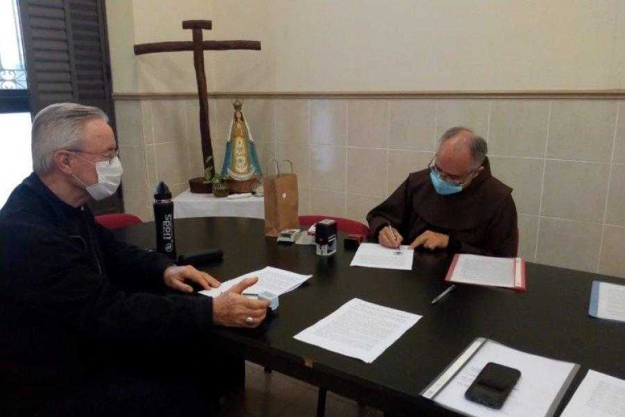 Se firmó el convenio de traspaso del Santuario de la Merced al Arzobispado