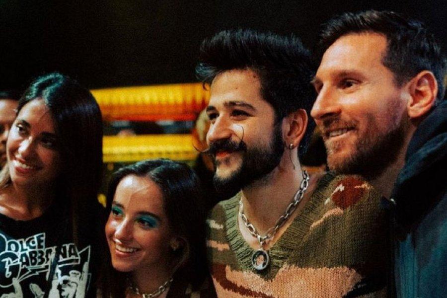 Messi y Antonela fueron a ver el recital de Camilo y Evaluna en París