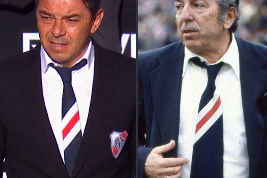 Gallardo como Ángel Labruna: la corbata que enloqueció a los hinchas