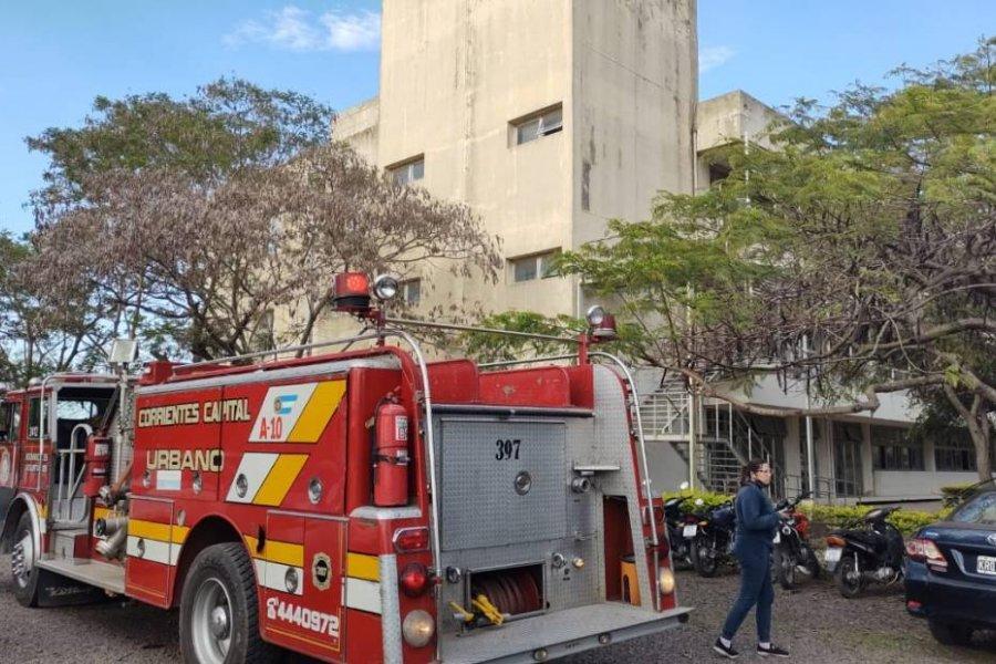 Se registró un incendio en el Campus de la UNNE en Corrientes