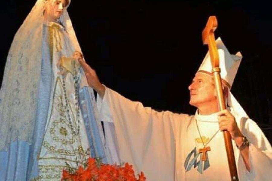 Monseñor Adolfo Canecin saluda a los goyanos en el Día de la virgen del Rosario