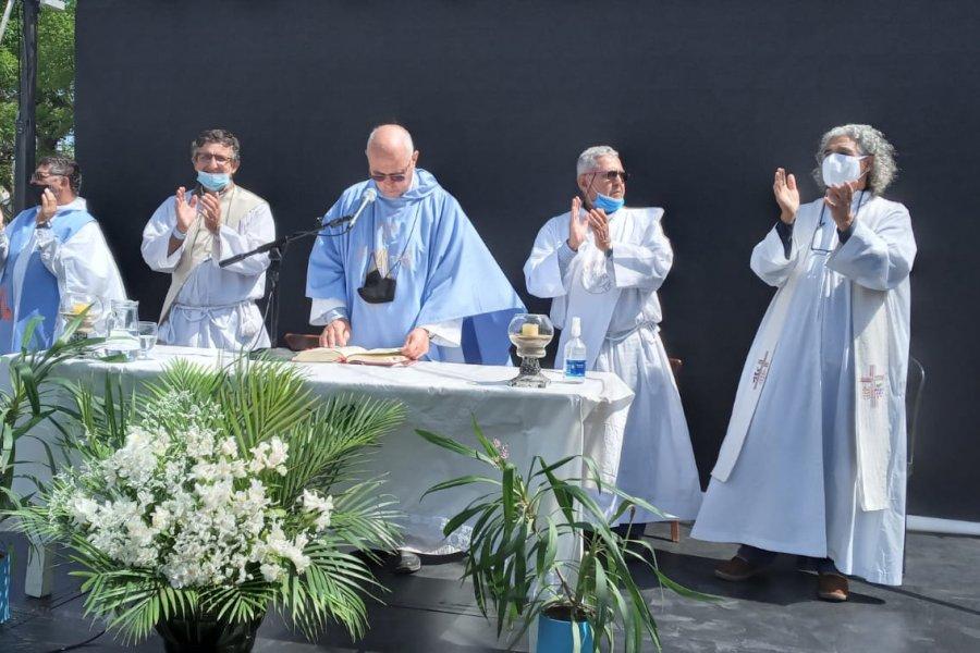 La Virgen del Rosario visitó a los peregrinos de la zona rural