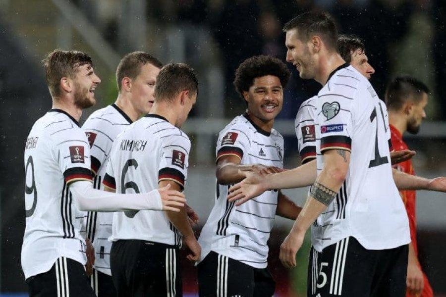 Alemania goleó a Macedonia del Norte y clasificó al Mundial de Qatar 2022