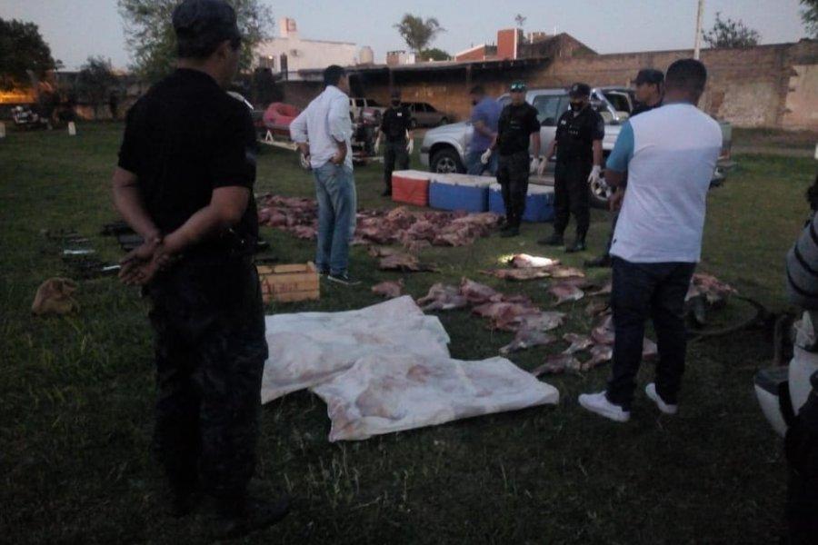 Detuvieron a ocho cazadores furtivos en la zona rural de Curuzú Cuatiá