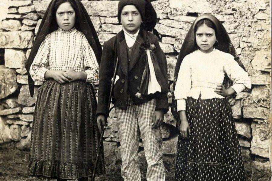 La última aparición de la Virgen de Fátima a los tres pastorcitos