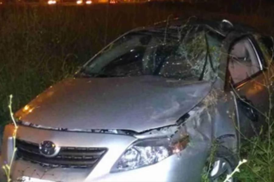 Vehículo despistó y volcó en la Ruta Nacional 12