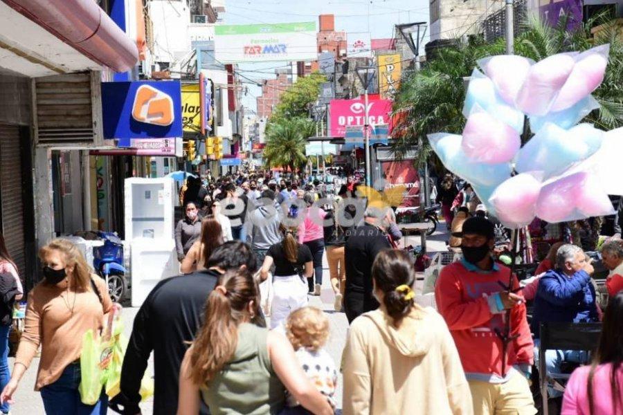 Peatonal Junín: Furor para comprar por el Día de la Madre