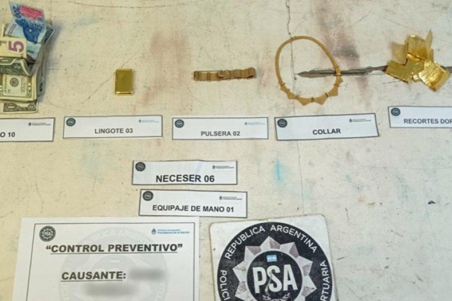Una azafata intentó viajar a Miami con más de dos kilos de oro