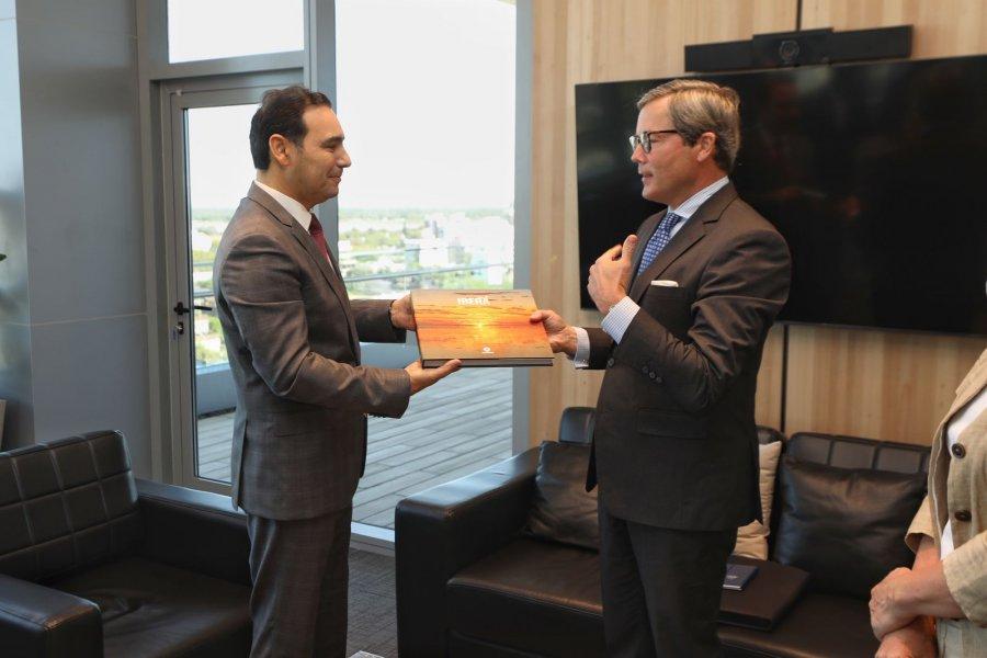 Valdés recibió la visita del embajador alemán Ulrich Sante