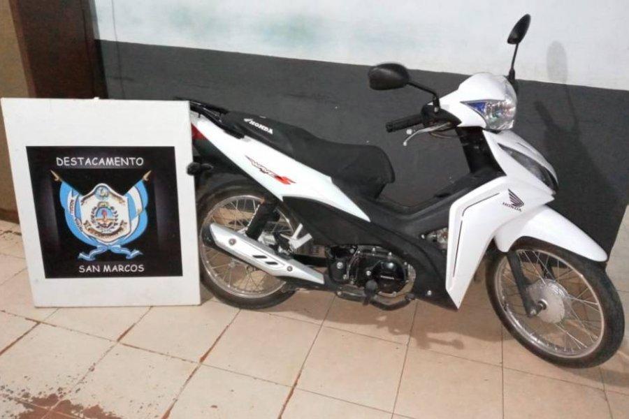Persecución: Recuperaron una moto robada y detuvieron al ladrón