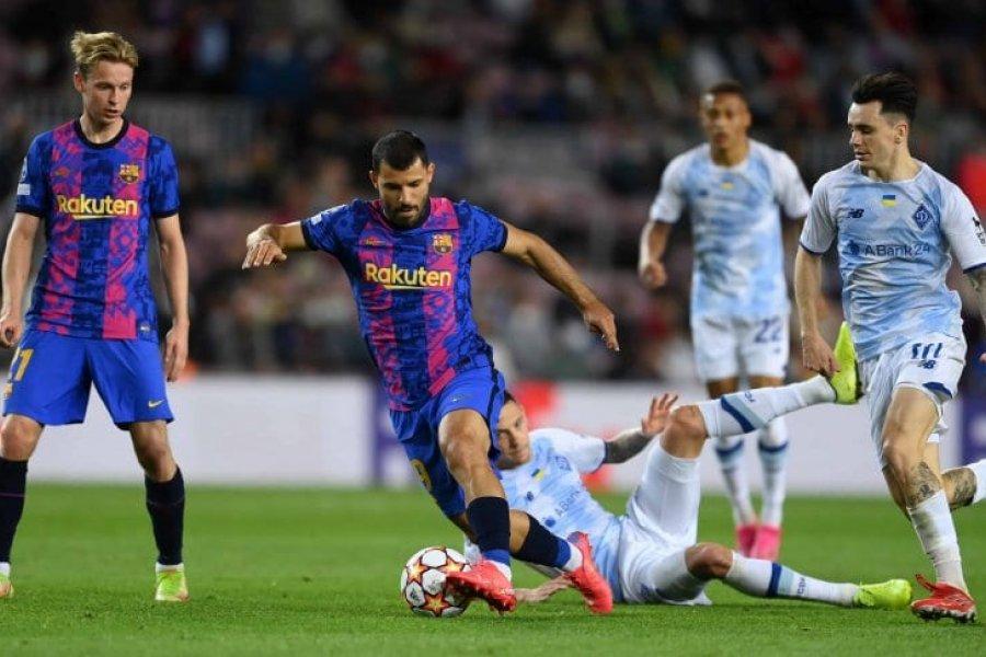 Con un ratito de Sergio Agüero, Barcelona le ganó a Dinamo de Kiev
