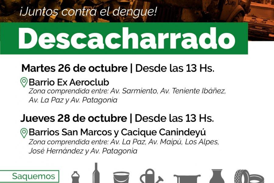 El descacharrado llega a los barrios Ex Aeroclub, San Marcos y Cacique Canindeyú