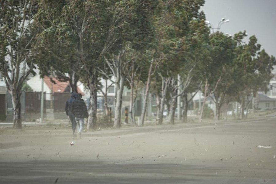 Alerta roja por vientos de más de 150 kilómetros por hora en Chubut