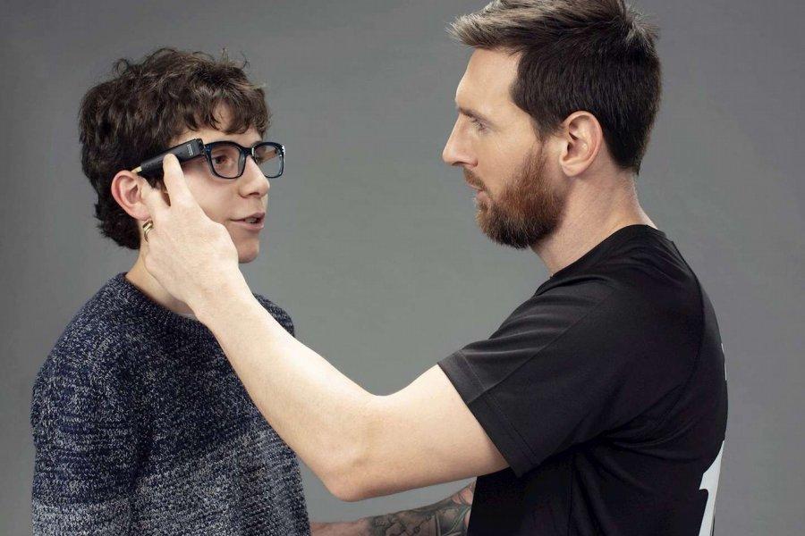 Lionel Messi donó anteojos inteligentes a personas con discapacidad visual